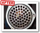 Ultrasonic cleaning for heat exchanger